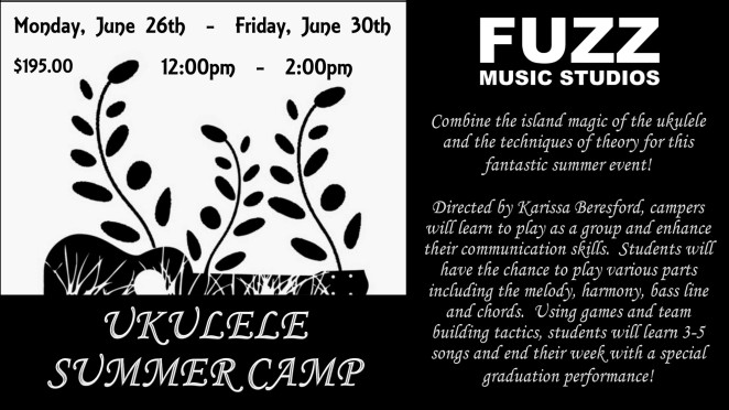 Ukulele Summer Camp Ad