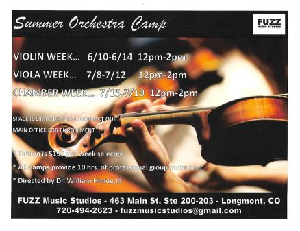 Summer Orchestra Camp 2019