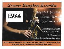 Summer Saxophone Ensembles